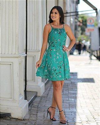 Vestido Floral Crepe - Danila