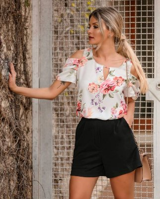 Blusa Crepe Floral - Mary