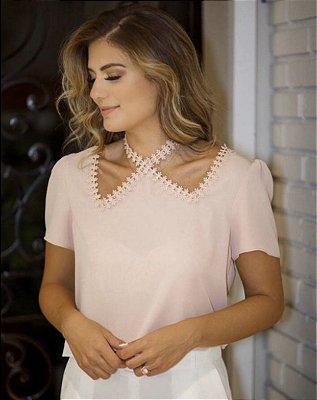 Blusa Lisandra ( Rosê)