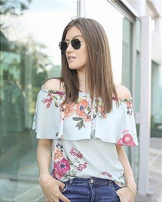 Blusa Ombro a Ombro Floral - Carla