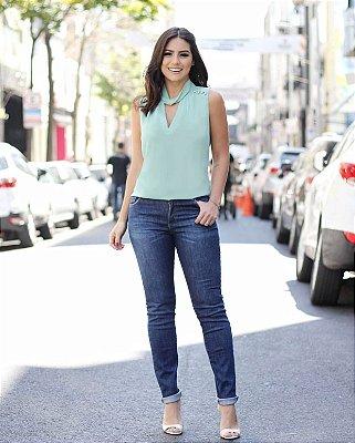 Calça Jeans Skinny Escura (com Elastano)