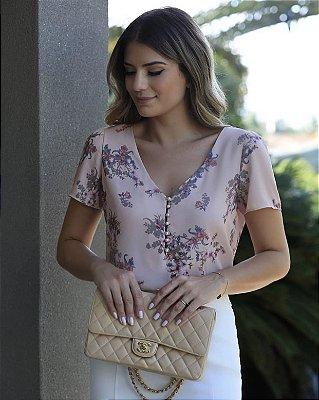 Blusa Crepe (Rosê e Verde) - Bárbara