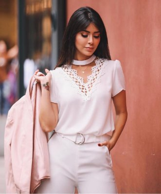 Blusa OFF WHITE - Alianne