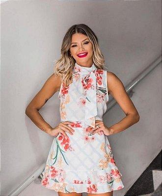 Blusa Laço Floral - AZUL