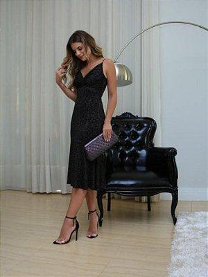 Vestido Lurex Black