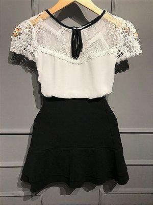 Blusa Crepe - Priscila ( Branca)