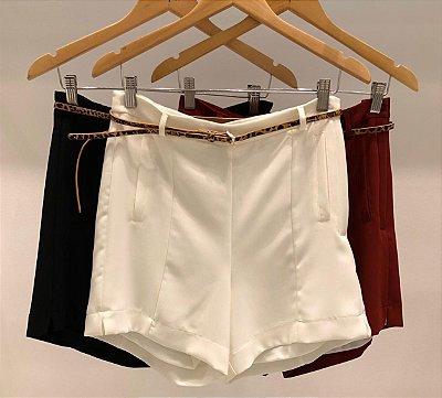 Shorts Alfaiataria Cinto Onça (Cores)