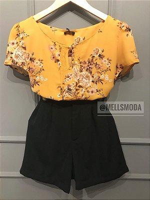 Blusa Floral (MOSTARDA, GOIABA)