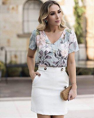 Blusa Crepe Floral - Camila