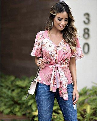 Blusa Floral Amarração