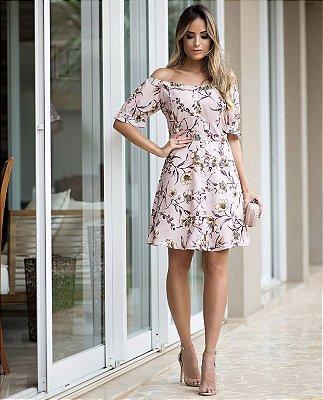 Vestido Crepe Floral - Leticia