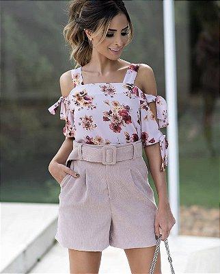 Blusa Floral Amarração - Elsa