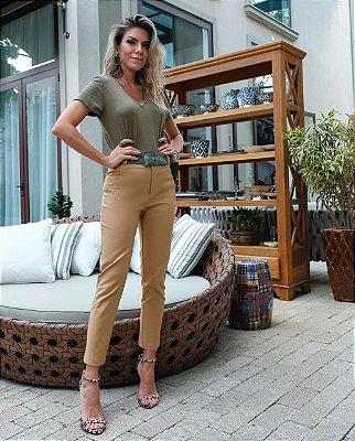 9fe6f6075e Calça Pantalona Alfaiataria Cinto - Mells Moda