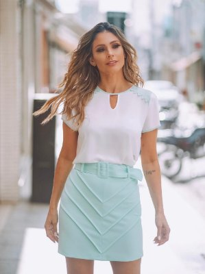 Blusa Crepe - Thaly (Cores)