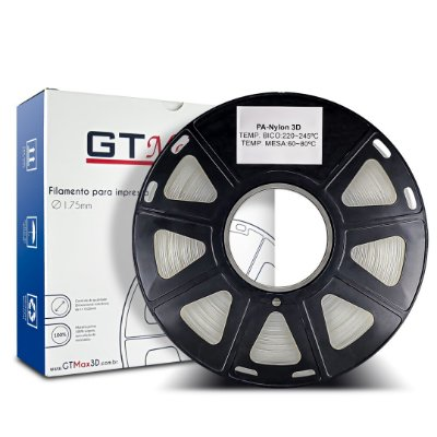 Filamento Nylon 1.75mm GTMax3D - Natural (Transparente) 1kg