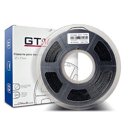 Filamento PLA 1.75mm GTMax3D - Preto Cintilante 1kg