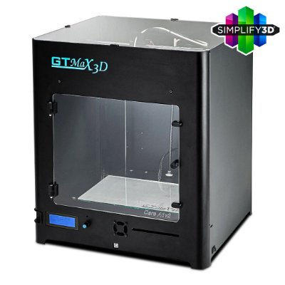 Impressora 3D Pro - GTMax3D Core A1v2 + Software Simplify3D + 1 kg de filamento ABS