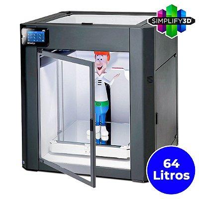 Impressora 3D Pro - GTMax3D Core GT4 + Software Simplify3D + 1kg filamento ABS