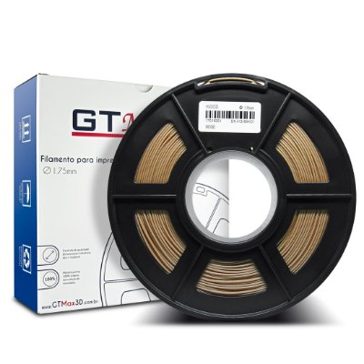 Filamento de Madeira (Wood) 1.75mm - GTMax3D