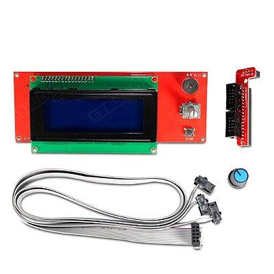 Controlador LCD c/ entrada para cartão SD - para Impressora 3D