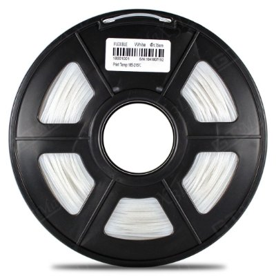 Filamento Flexível TPU 1.75mm GTMax3D - Branco 500g