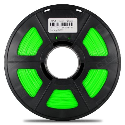 Filamento Flexível TPU 1.75mm GTMax3D - Verde 500g