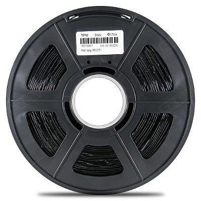 Filamento Flexível TPU 1.75mm GTMax3D - Preto 500g