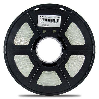 Filamento Flexível TPU 1.75mm GTMax3D - Transparente 500g
