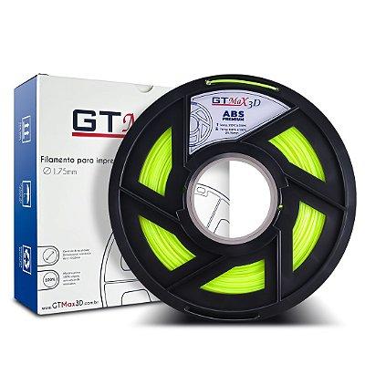 Filamento ABS Premium 1.75mm GTMax3D - Amarelo Fluorescente