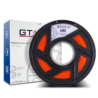 Filamento ABS Premium 1.75mm GTMax3D - Laranja Fluorescente