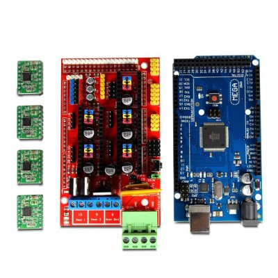 Kit Arduino Mega 2560 + Shield RAMPS 1.4 + 4 Driver A4988