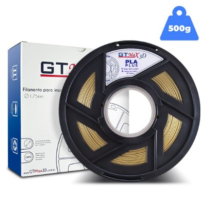 Filamento PLA 1.75mm GTMax3D - Ouro (Gold) - 500g