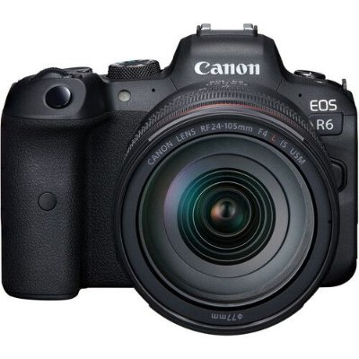 Câmera Canon EOS R6 Mirrorless Kit com Lente Canon RF 24-105mm f/4L IS USM