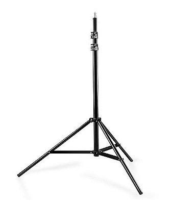 Tripé para iluminação FV806 Altura máx 2,60M Altura mín 100cm Peso 1,040 Kg Carga máx 2,5 kg