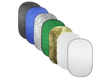 Rebatedor Oval Reflex dobrável de 7 faces em 1 tamanho 112 x 180cm
