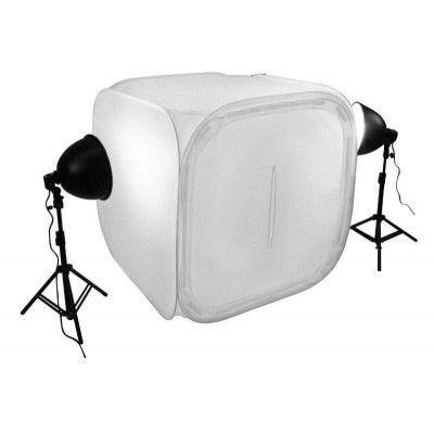 Kit ilumicação Mini Estudio Still PK-ST07 (110V) 90W com Tenda tamanho 40x40x40cm