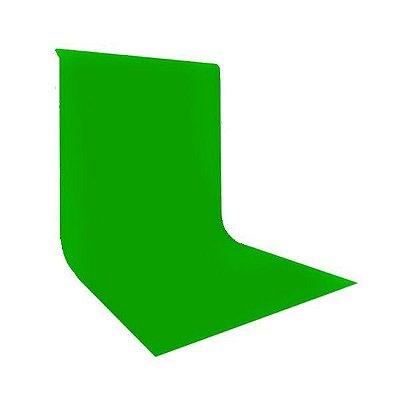 Fundo Infinito em Tecido Algodão MUSLIN Cor Verde CHROMA KEY Tamanho 3 X 5m GREIKA FV003-1016