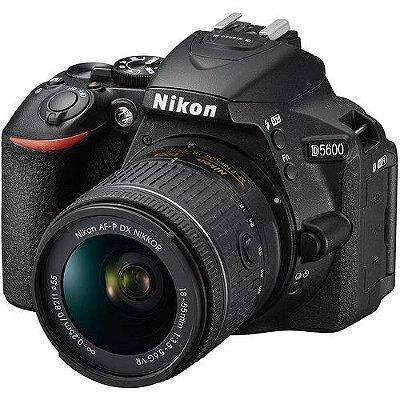Câmera Nikon D5600 Kit com Lente Nikon AF-P NIKKOR 18-55mm f/3.5-5.6G VR