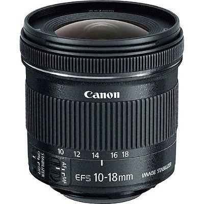 Lente Canon EF-S 10-18mm f/4.5-5.6 IS STM com Parasol Canon EW-73C