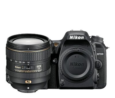 Câmera Nikon D7500 Kit com Lente Nikon AF-S DX NIKKOR 16-80mm f/2.8-4E ED VR