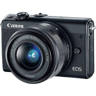 Câmera Canon EOS M100 Mirrorless Kit com Lente Canon EF-M 15-45mm f/3.5-6.3 IS STM
