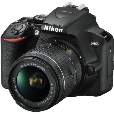 Câmera Nikon D3500 Kit com Lente Nikon AF-P NIKKOR 18-55mm f/3.5-5.6G VR