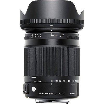 Lente Sigma 18-300mm f/3.5-6.3 DC MACRO OS HSM Contemporary para câmeras Nikon DX