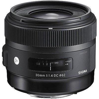 Lente Sigma 30mm f/1.4 DC HSM Art para câmeras Canon EF-S