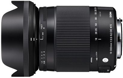 Lente Sigma 18-300mm f/3.5-6.3 DC MACRO OS HSM Contemporary para Câmeras Canon EF-S