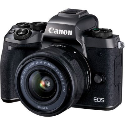 Câmera Canon EOS M5 Mirrorless Kit com Lente Canon EF-M 15-45mm f/3.5-6.3 IS STM