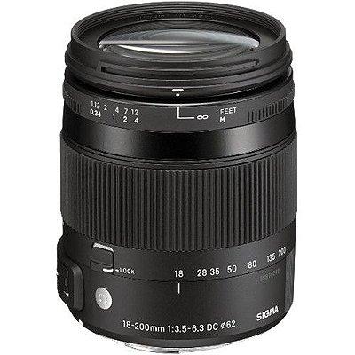 Lente Sigma 18-200mm f/3.5-6.3 DC Macro OS HSM Contemporary para câmeras Nikon DX