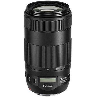 Lente Canon EF 70-300mm f/4-5.6 IS II USM com Parasol Canon ET-74B