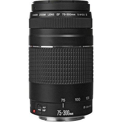 Lente Canon EF 75-300mm f/4-5.6 III com Parasol Canon ET-60