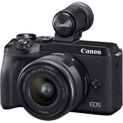 Câmera Canon EOS M6 Mark II Mirrorless Kit com Lente Canon EF-M 15-45mm f/3.5-6.3 IS STM